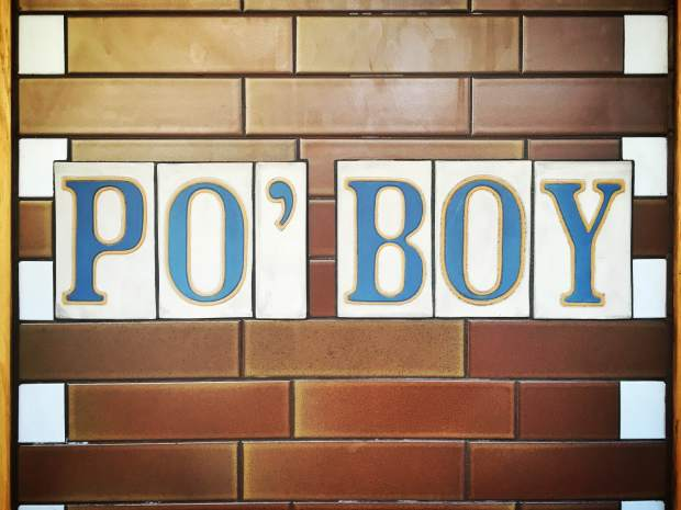Po Boy Quarter Sign