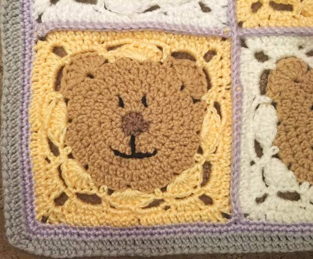 Teddy Blanket Close Up Face